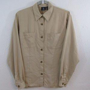 Hunt Club Woman's Collard Button Up Blouse